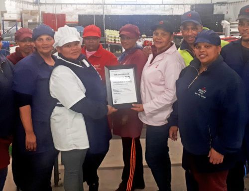"""Graaff Packing's Woolworths Division won """"The Difference"""" award at the Woolworths Supplier Day"""